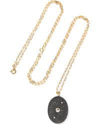 Cvc Stones | Cosmic 18-karat Gold, Stone And Diamond Necklace | Lyst