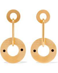 Marni - Gold-tone Crystal Earrings - Lyst