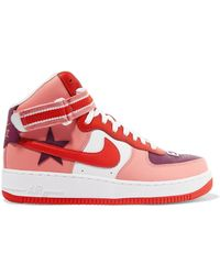 Nike - + Riccardo Tisci Air Force 1 Leather High-top Trainers - Lyst