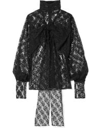 Christopher Kane - Bow Lace Blouse - Lyst