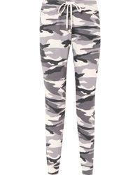 Splendid - Camouflage-print Stretch-jersey Track Pants - Lyst