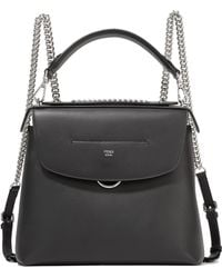 Fendi - Back To School Large Leather Backpack - Lyst