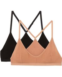 Baserange - Set Of Two Stretch-bamboo Soft-cup Triangle Bras - Lyst
