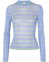 Acne Studios - Rutmar Striped Ribbed Cotton-blend Sweater - Lyst