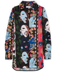 Carven - Printed Satin-twill Shirt - Lyst