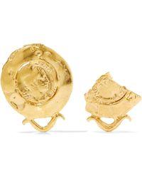 Alighieri - La Passione Di Napoli Gold-plated Earrings - Lyst