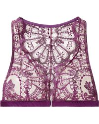I.D Sarrieri - Coup De Foudre Satin-trimmed Chantilly Lace And Tulle Soft-cup Triangle Bra - Lyst