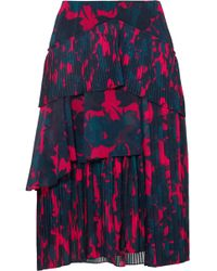 Jason Wu - Floral-print Pleated Chiffon Skirt - Lyst