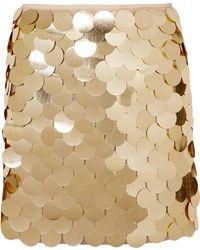 Sara Battaglia - Sequined Tulle Mini Skirt - Lyst