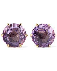 Ippolita - Rock Candy 18-karat Gold Amethyst Earrings - Lyst