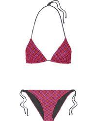 Missoni - Mare Metallic Crochet-knit Bikini - Lyst