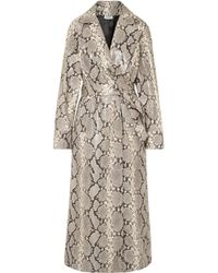Attico - Snake-effect Leather Trench Coat - Lyst