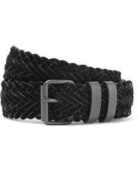 Haider Ackermann - Woven Velvet And Leather Belt - Lyst
