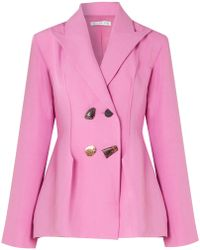 Rejina Pyo - Nicole Double-breasted Woven Blazer - Lyst