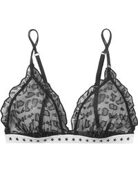 Love Stories - Reggipetto Ruffled Stretch-lace Soft-cup Triangle Bra - Lyst