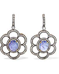 Amrapali - 18-karat Gold, Tanzanite And Diamond Earrings - Lyst