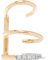 Maria Black - Laurel Blanc 14-karat Gold, Rhodium-plated And Diamond Ear Cuff - Lyst