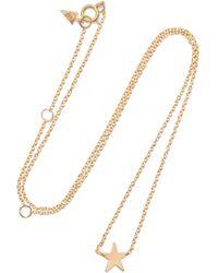 Loren Stewart - Mini Star Gold Necklace Gold One Size - Lyst