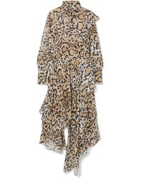 Petar Petrov - Leopard-print Chiffon Midi Dress - Lyst