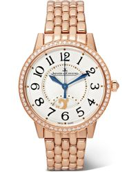 Jaeger-lecoultre - Rendez-vous Night & Day 34mm Rose Gold And Diamond Watch - Lyst