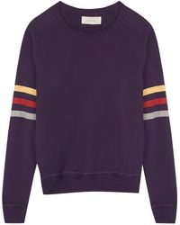 The Great - Striped Cotton Jumper - Lyst