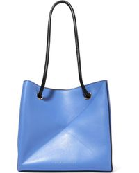 Victoria Beckham - Cube Small Two-tone Leather Shoulder Bag - Lyst