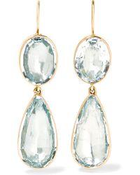 Fred Leighton - 1840s 14-karat Gold Aquamarine Earrings - Lyst
