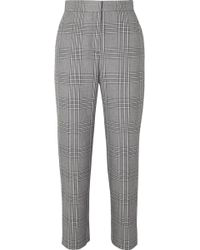 Maje - Checked Woven Tapered Pants - Lyst