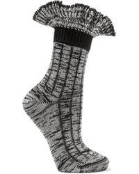 Alexander McQueen - Ruffled Wool-blend Socks - Lyst