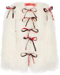 Sandy Liang | Lambeaux Convertible Shearling Coat | Lyst