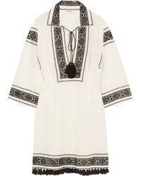 Talitha | Embroidered Cotton Tunic | Lyst