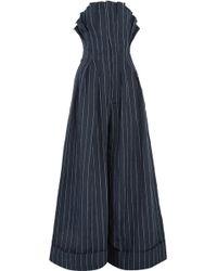 Jacquemus - Pinstriped Linen Jumpsuit - Lyst