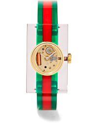 Gucci - Plexiglas® And Gold-tone Watch - Lyst