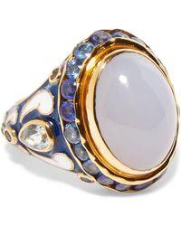 Percossi Papi - Gold-tone Multi-stone Ring - Lyst