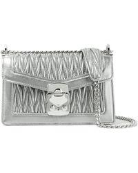 89242017c64 Lyst - Miu Miu Matelassé Leather Shoulder Bag in Natural
