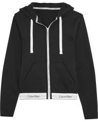 CALVIN KLEIN 205W39NYC - Modern Cotton-jersey Hooded Sweatshirt - Lyst