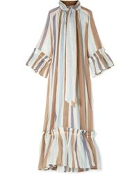 Yvonne S - Angelica Tiered Striped Linen Maxi Dress - Lyst