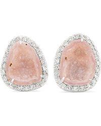 Kimberly Mcdonald - 18-karat White Gold, Diamond And Geode Earrings - Lyst