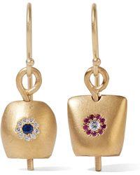 Iam By Ileana Makri - Belle Medium Gold-plated Cubic Zirconia Earrings - Lyst