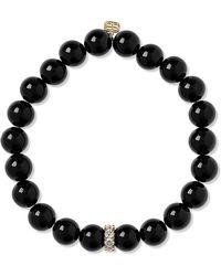 Sydney Evan - Onyx, Diamond And 14-karat Gold Bracelet - Lyst