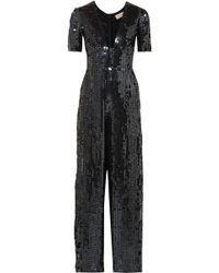 Temperley London | Sequined Chiffon Jumpsuit | Lyst