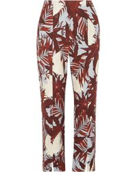 Erdem - Syrah Cropped Printed Cotton-canvas Straight-leg Trousers - Lyst