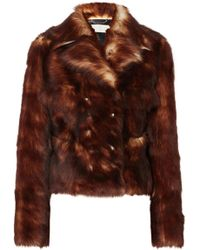 Chloé - Leather-trimmed Shearling Jacket - Lyst