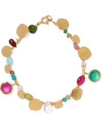 Katerina Makriyianni - Gold-plated Multi-stone Bracelet - Lyst
