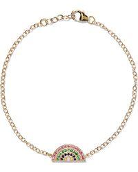Andrea Fohrman - Rainbow 14-karat Gold Multi-stone Bracelet - Lyst