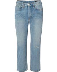 Rag & Bone - Distressed Boyfriend Jeans - Lyst