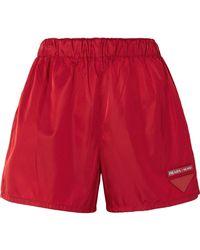 Prada - Appliquéd Shell Shorts - Lyst