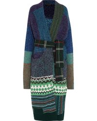 Burberry - Oversized Patchwork Cashmere-blend Cardigan - Lyst
