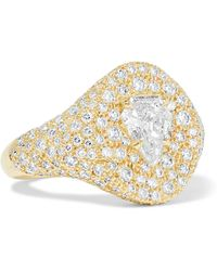 Jemma Wynne - 18-karat Gold Diamond Ring - Lyst