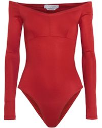 Gabriela Hearst - Hobbs Off-the-shoulder Stretch-ponte Bodysuit - Lyst